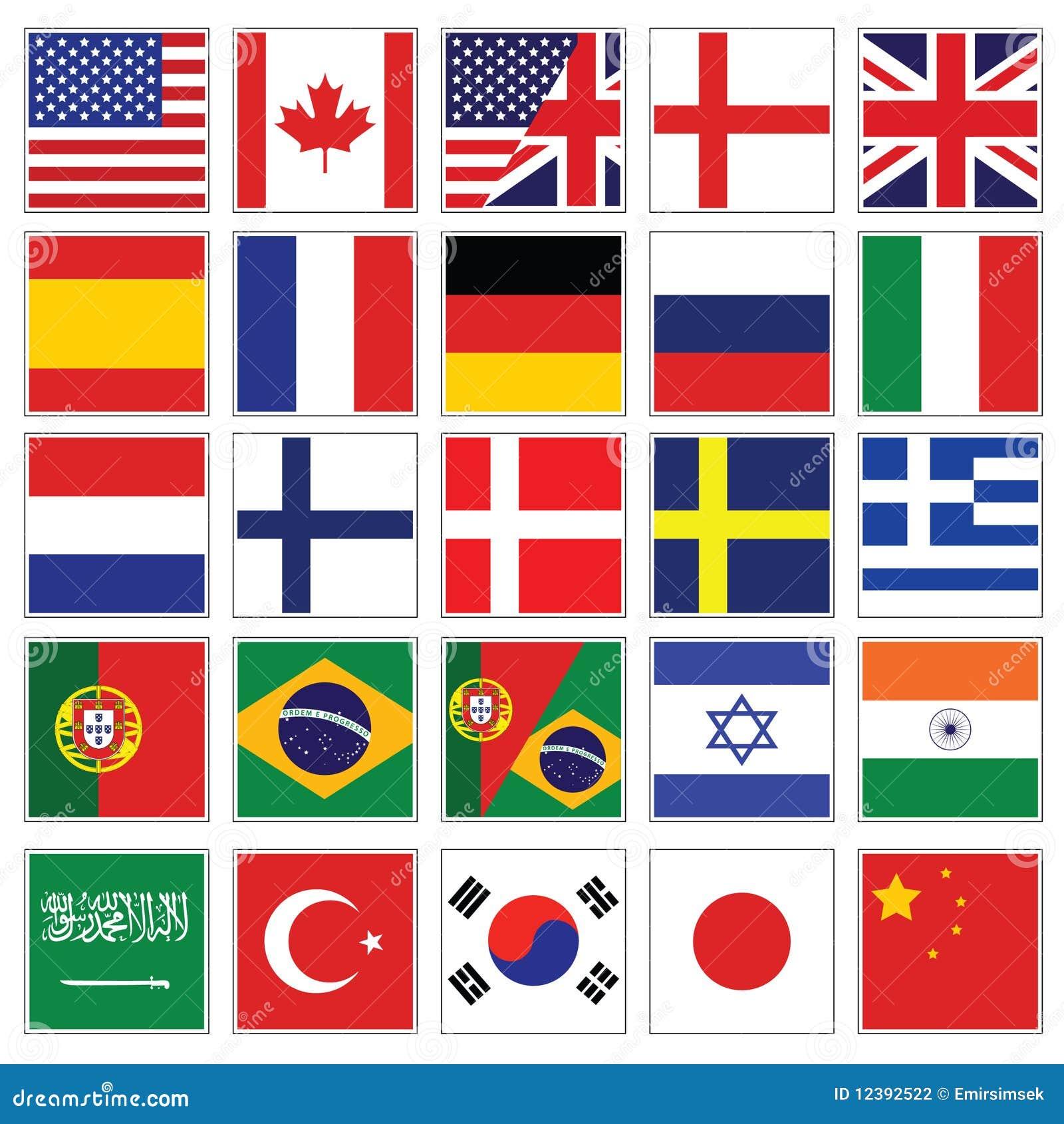 Colección del icono del lenguaje del Web