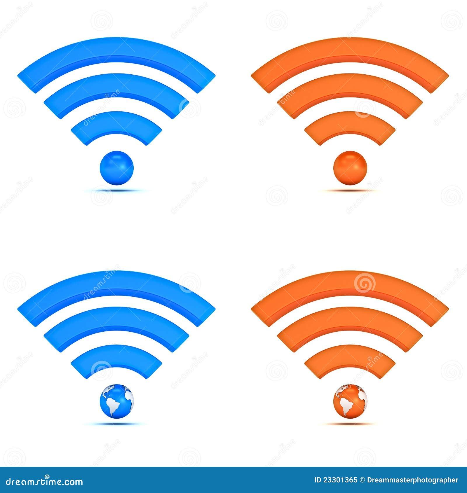 Colección del icono del wifi 3d