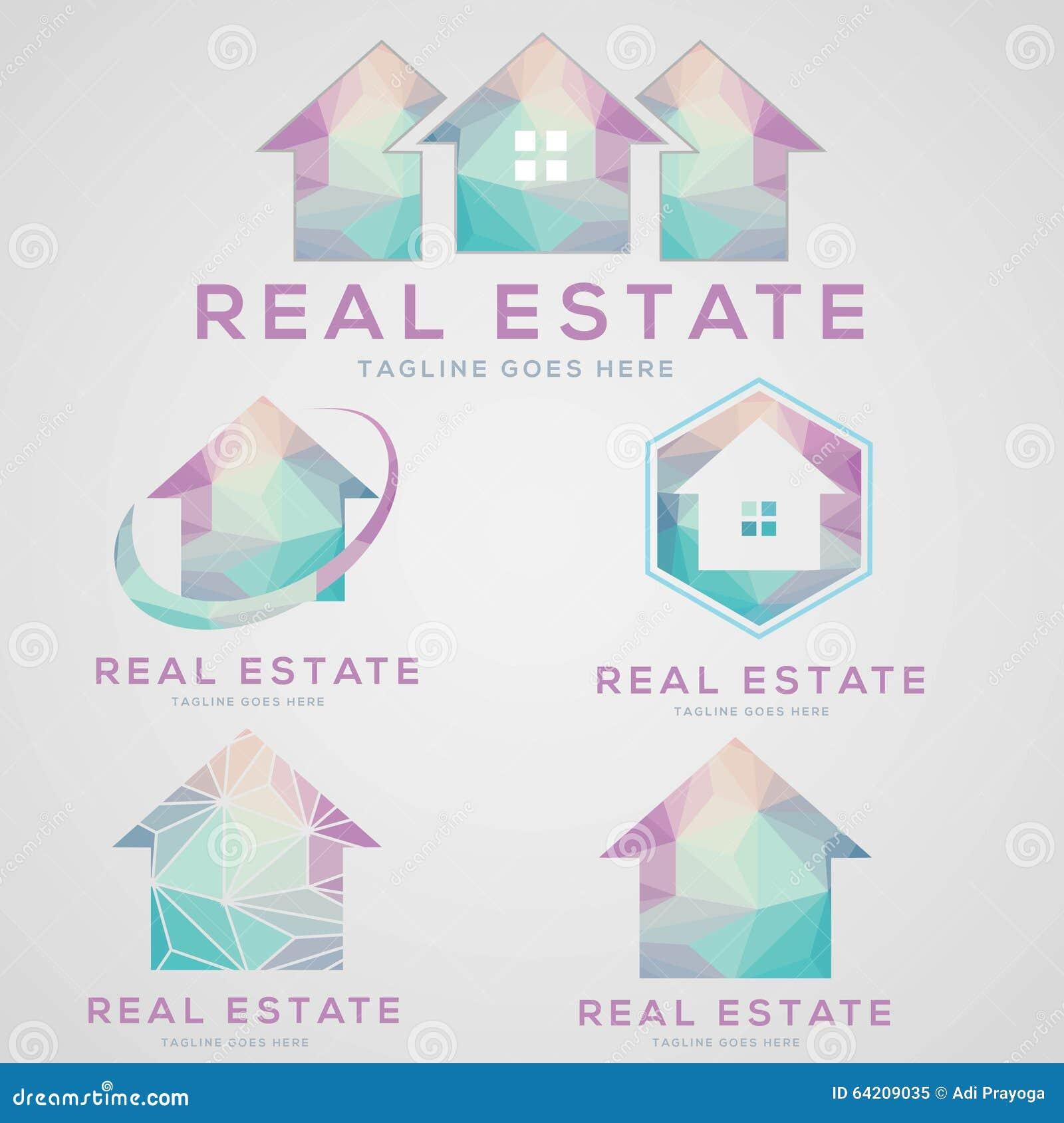 Colección del logotipo de las propiedades inmobiliarias