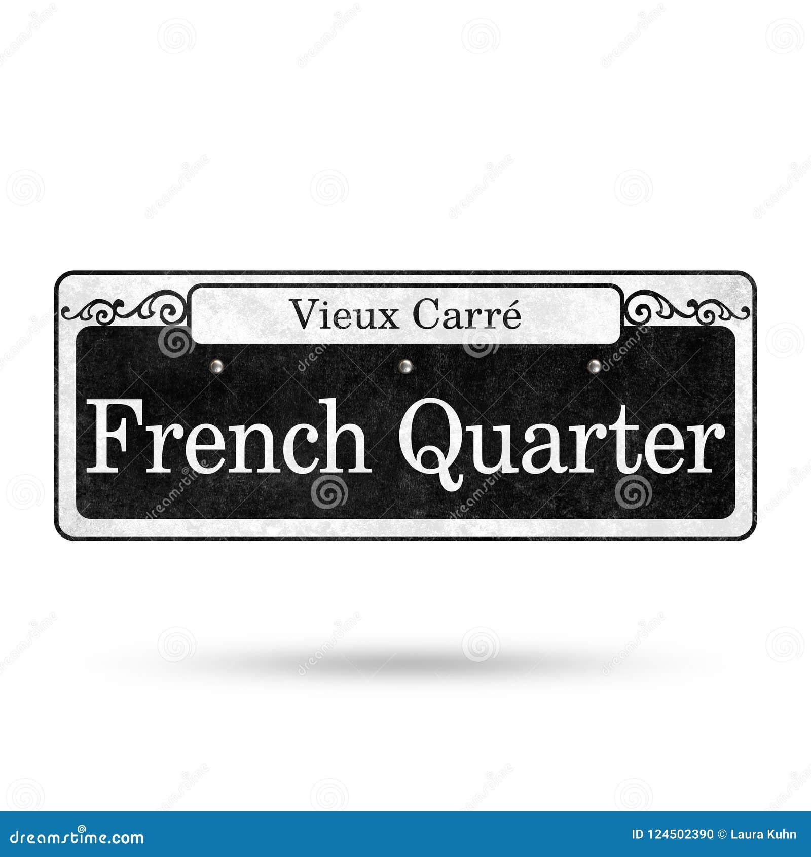Colección del nombre de la calle del barrio francés de las placas de calle de New Orleans