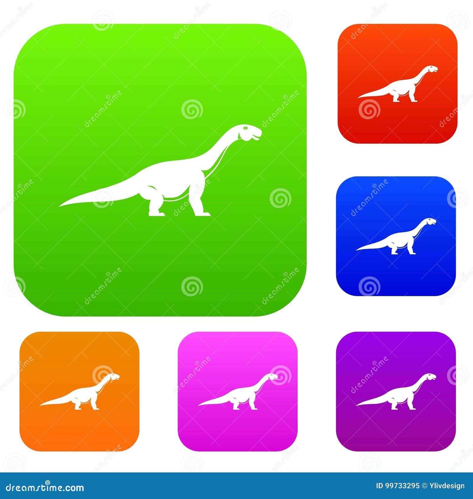 Colección Determinada Del Color Del Dinosaurio Del Titanosaurus ...