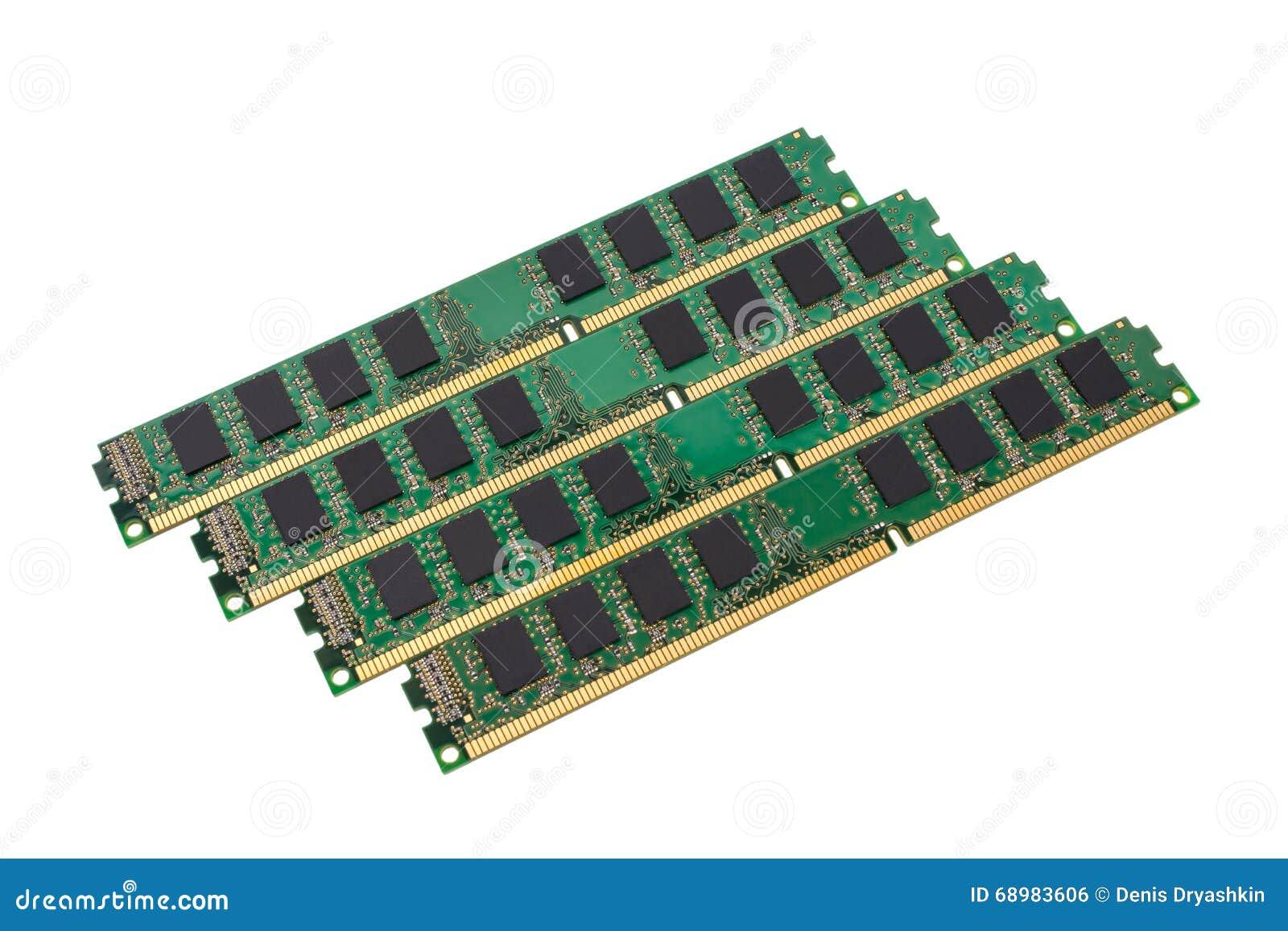 Colección electrónica - módulo de la memoria de acceso aleatorio del ordenador (RAM)