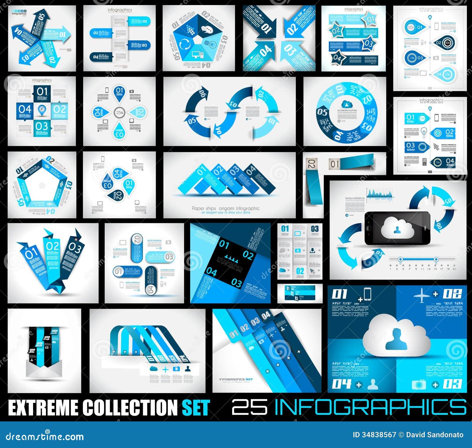 Colección extrema de fondo de Infographics de 25 calidades.