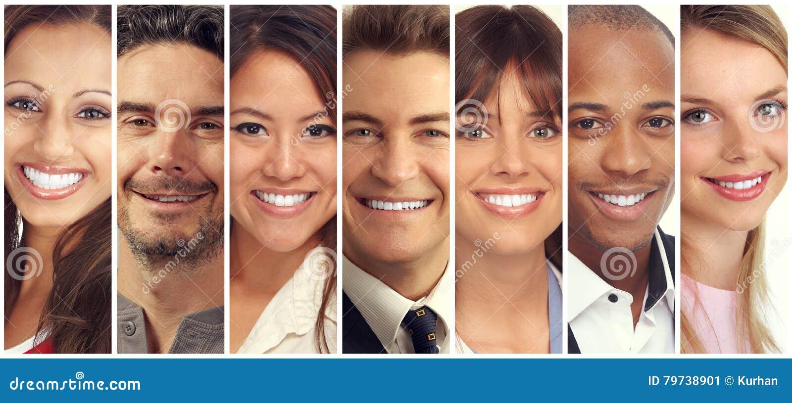 Colección feliz de la gente