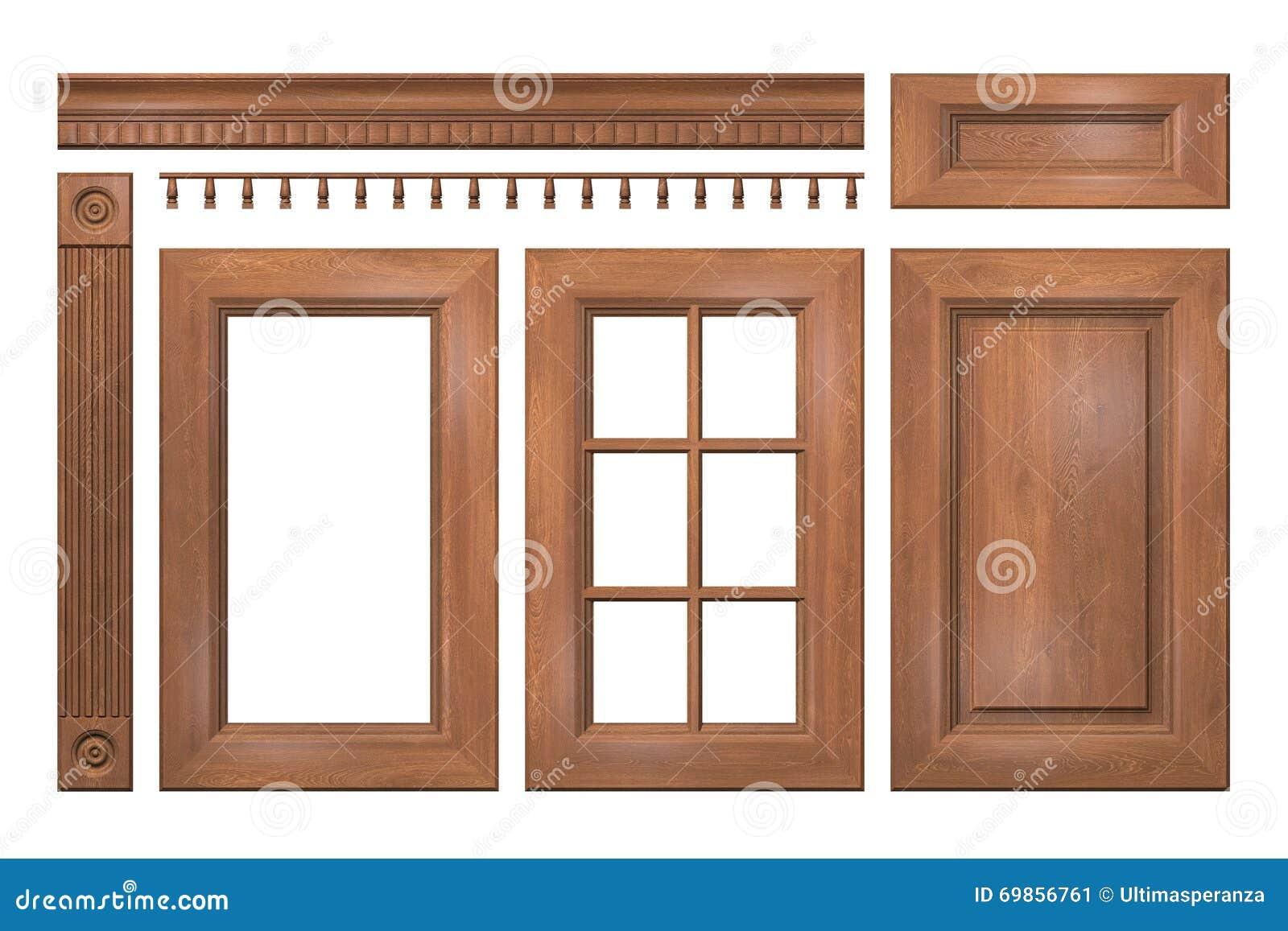 Colecci n delantera de puertas de madera caj n columna - Puertas de madera de cocina ...