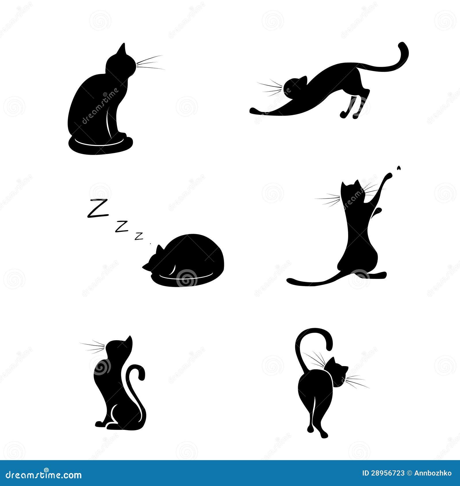 silueta de gato negro - photo #17