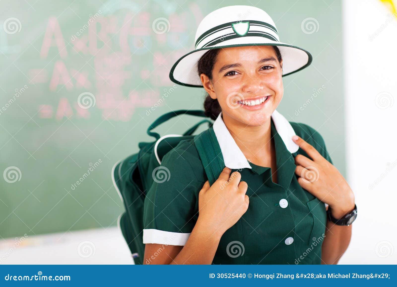 Colegiala adolescente hermosa