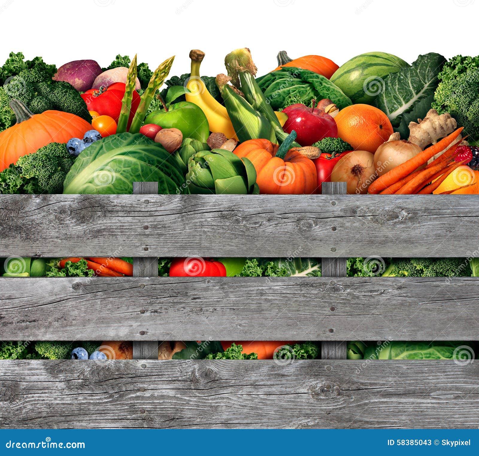 Colheita das frutas e legumes