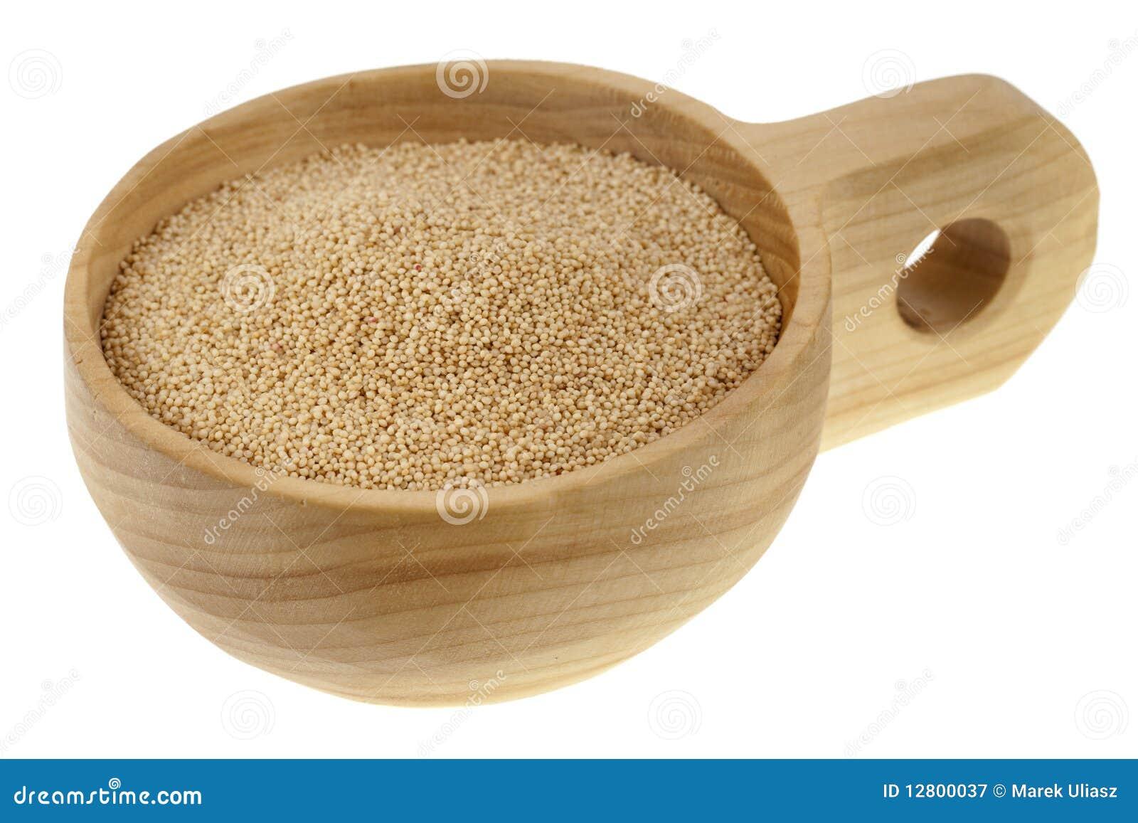 Colher da grão do amaranto