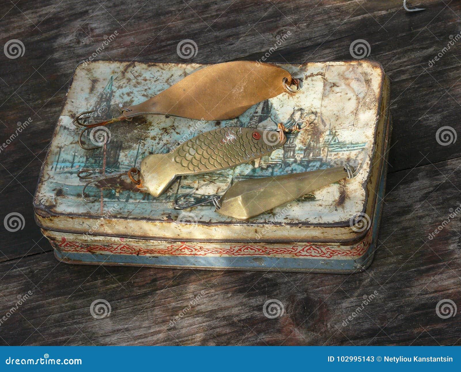 Colher-iscas velhas para pescar