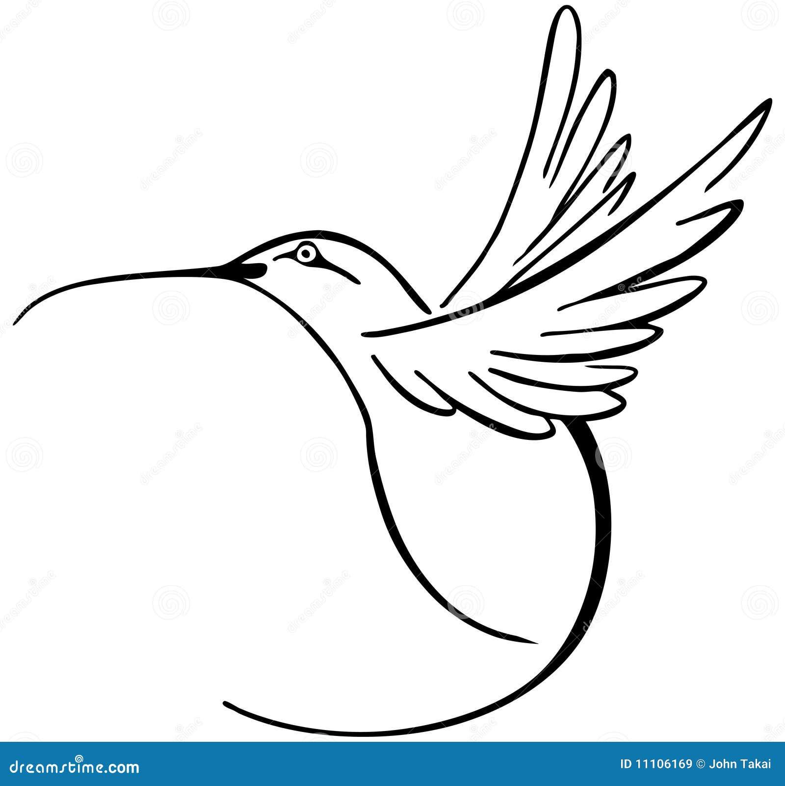 Colibrí Ilustración Del Vector Ilustración De Arte Símbolo 11106169