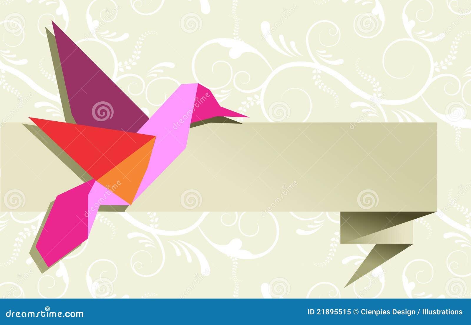 exemple origami oiseau colibri origami t origami. Black Bedroom Furniture Sets. Home Design Ideas