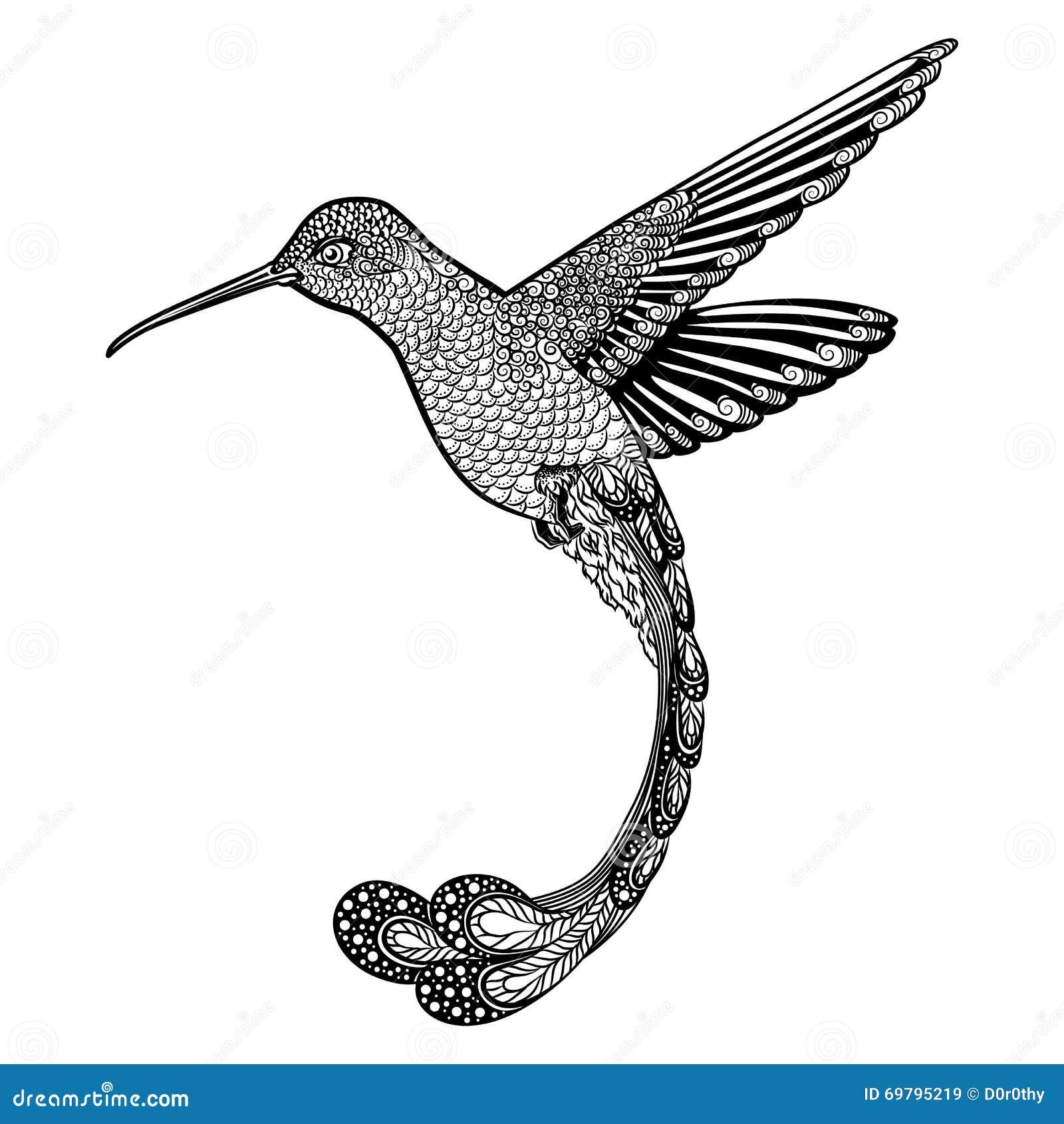 tatouage boussole et colibri