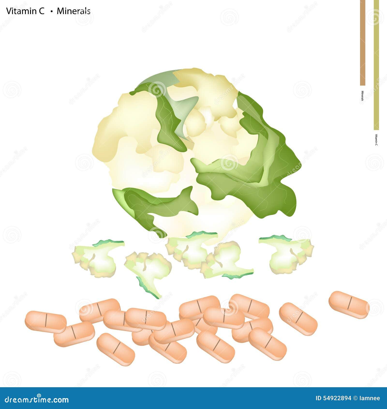 coliflor que vitaminas y minerales tiene