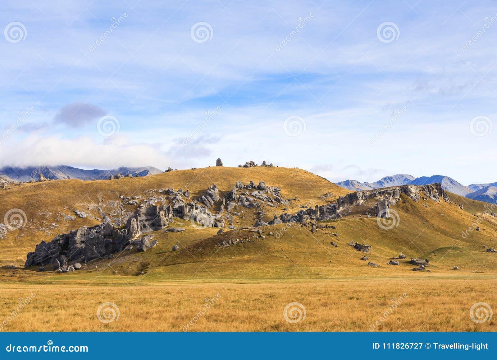 Colina del castillo en el paso de Arthurs, Nueva Zelanda