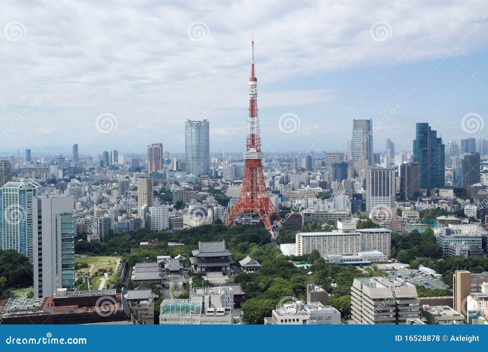 Colinas de la torre y del roppongi de Tokio