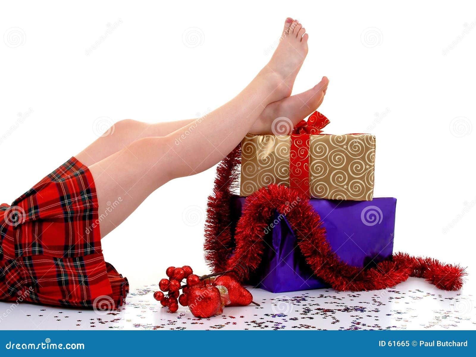 Download Colis de Noël image stock. Image du vous, fille, détendez - 61665