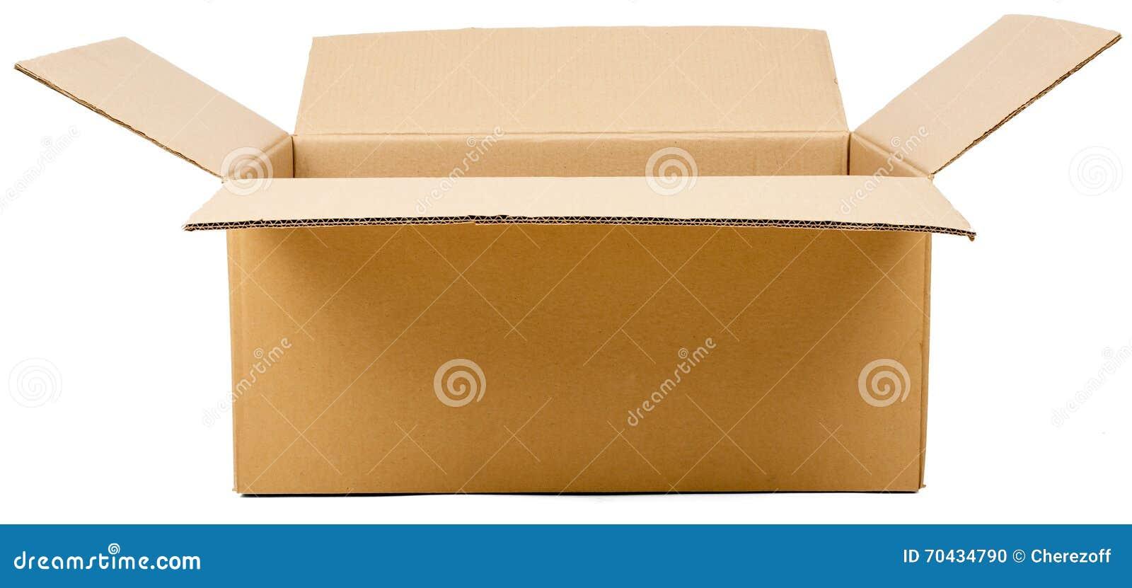 colis ouvert de bo te en carton photo stock image 70434790. Black Bedroom Furniture Sets. Home Design Ideas