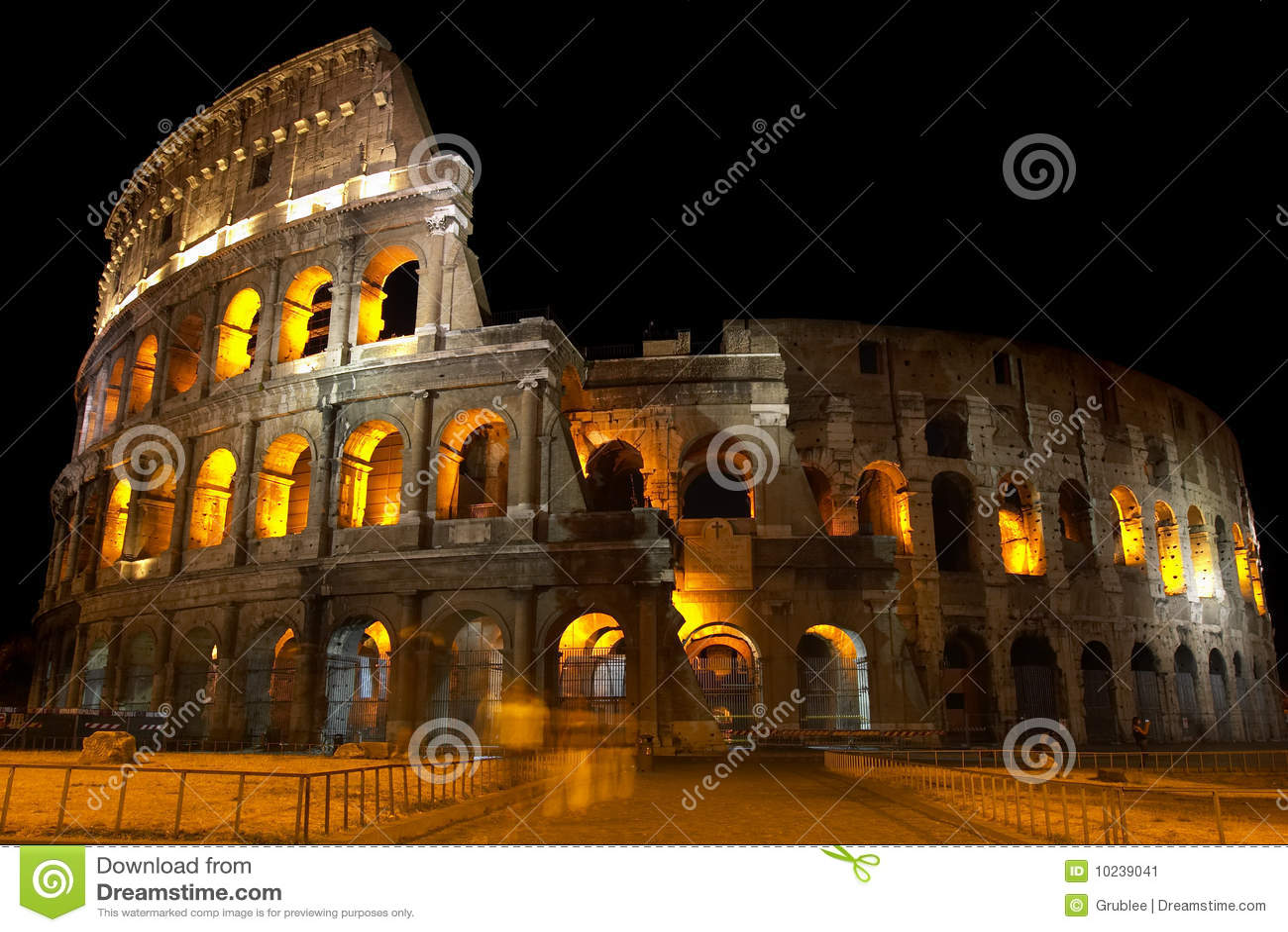 Coliseum bij nacht