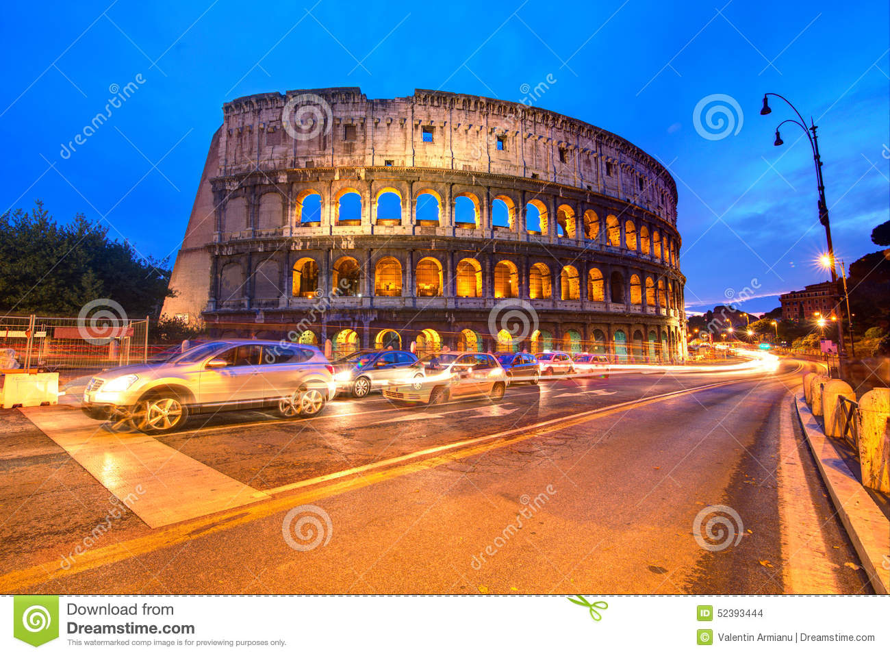 Coliseum in Rome by night, Italy