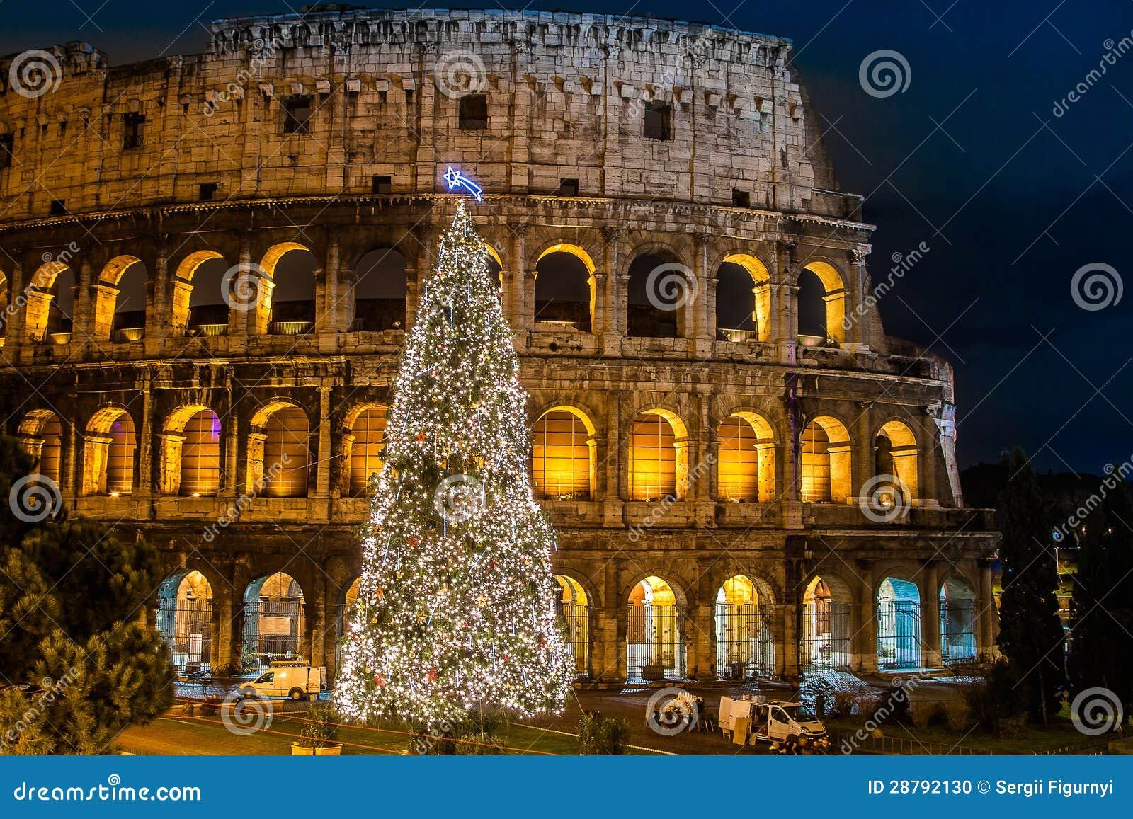 Coliseum van Rome, Italië op Kerstmis