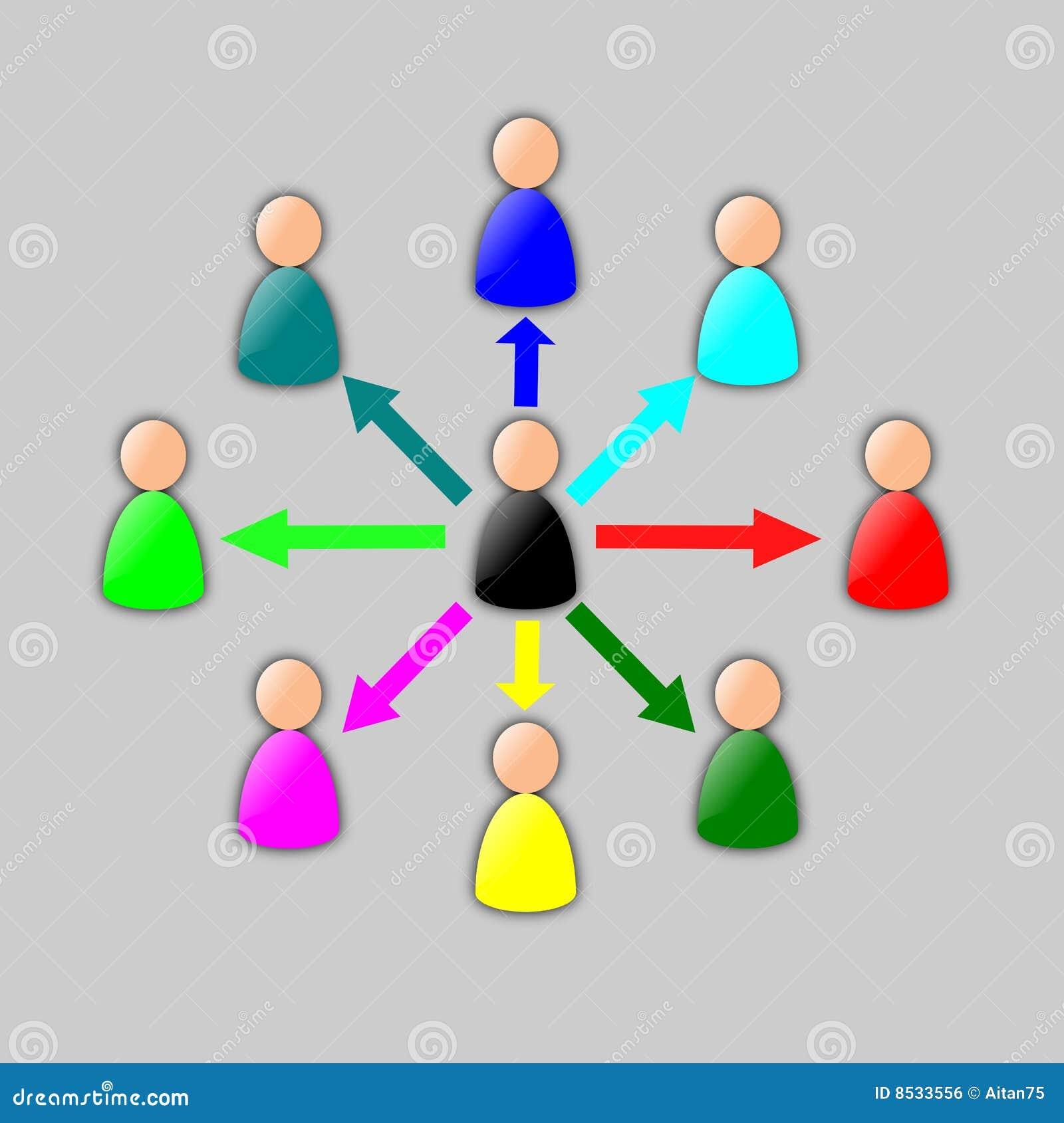 Collaboration Diagram Stock Illustration  Image Of Businessman