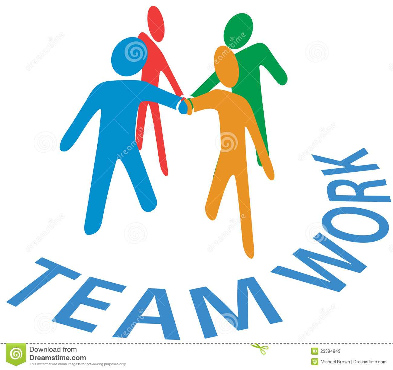 Collaboration People Join Hands Teamwork Stock Vector ...