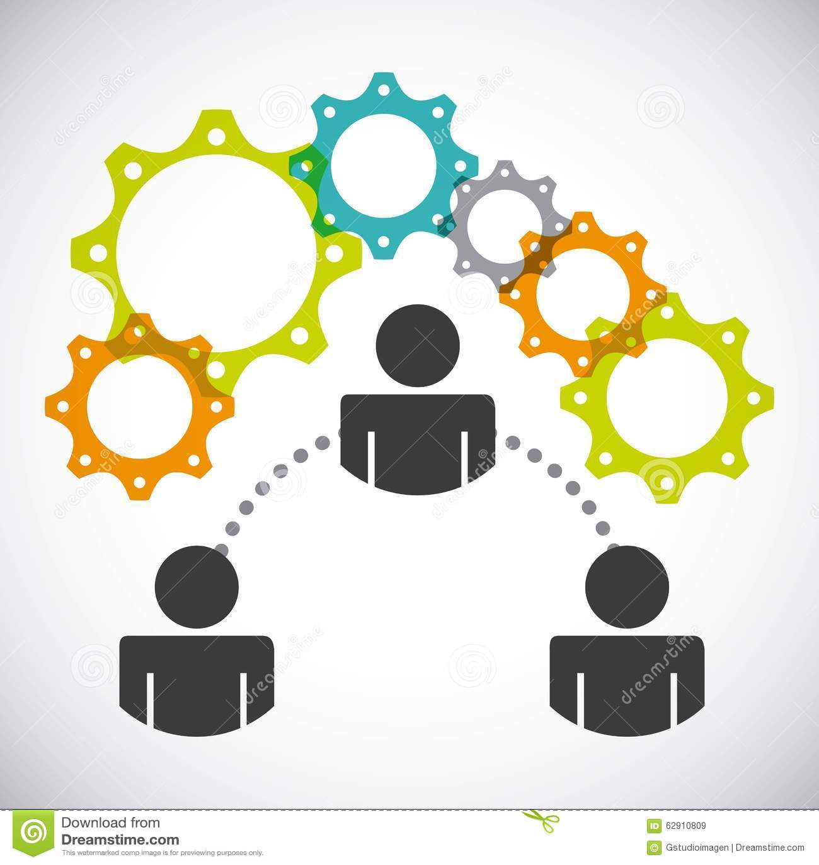 A Collaborative Design Group: Collaborative People Design Stock Vector