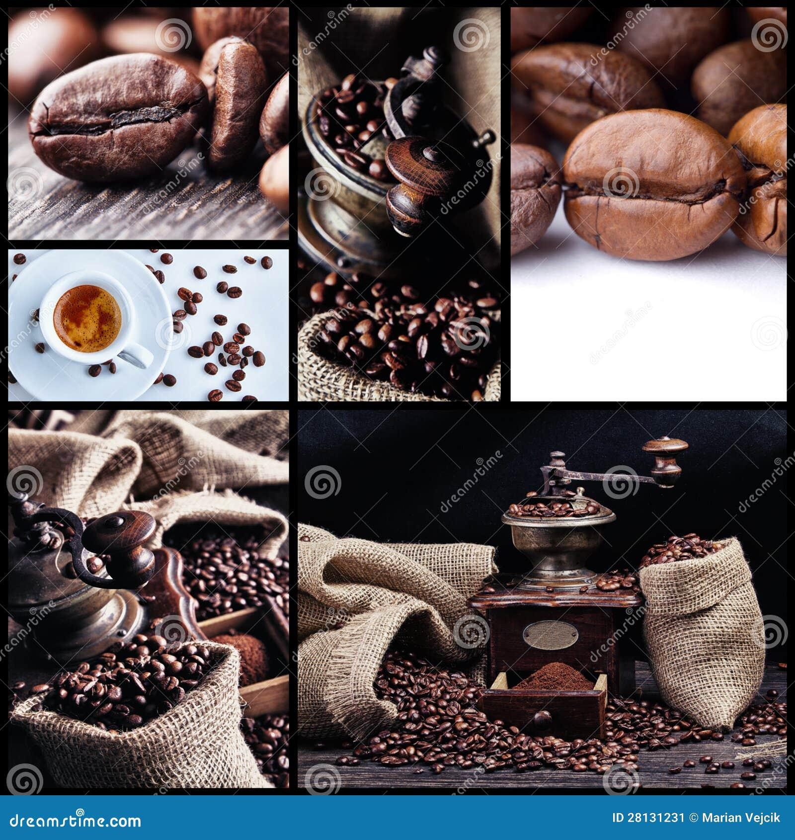 Collage 1 van de koffie