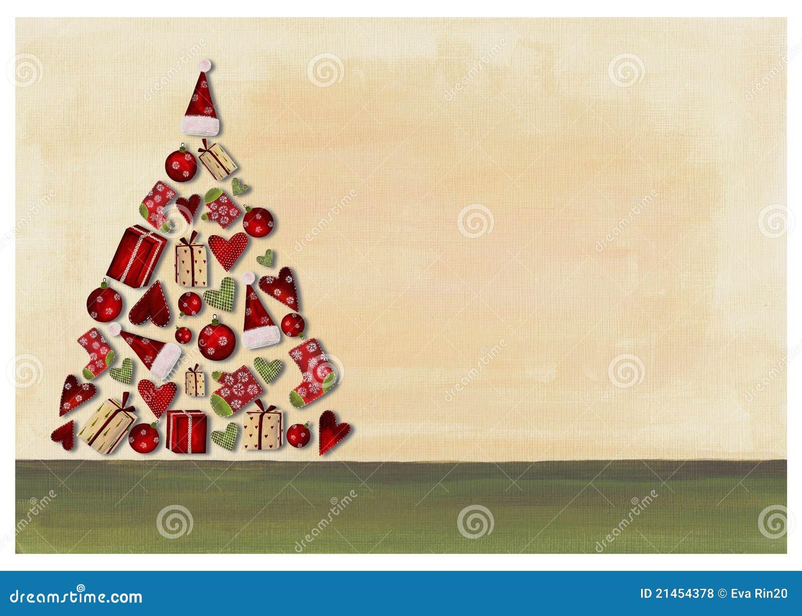 Foto Collage Di Natale.Collage Albero Di Natale Illustrazione Di Stock Illustrazione Di Allegro 21454378