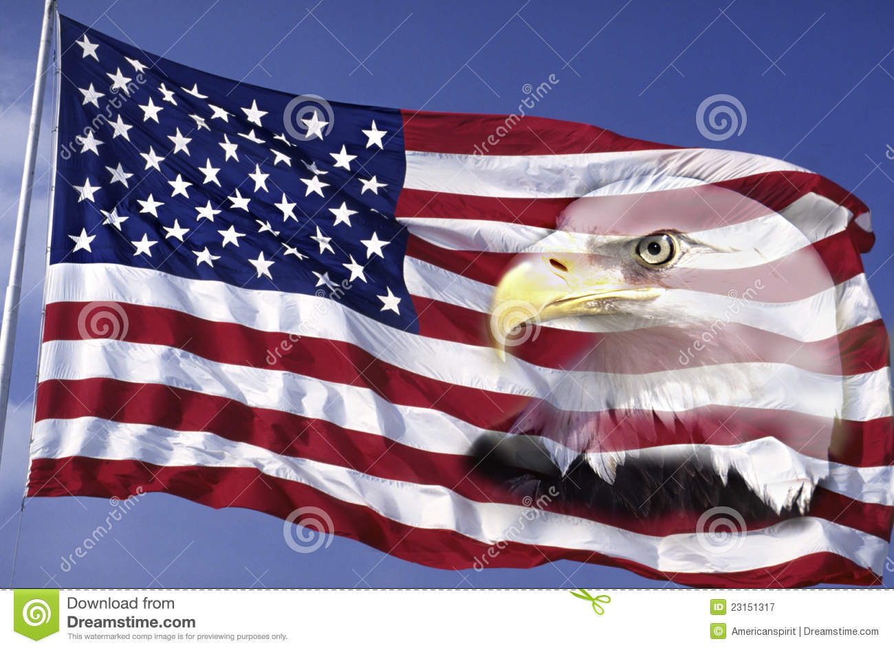 Collage Of American Flag And Bald Eagle Stock Image Image Of
