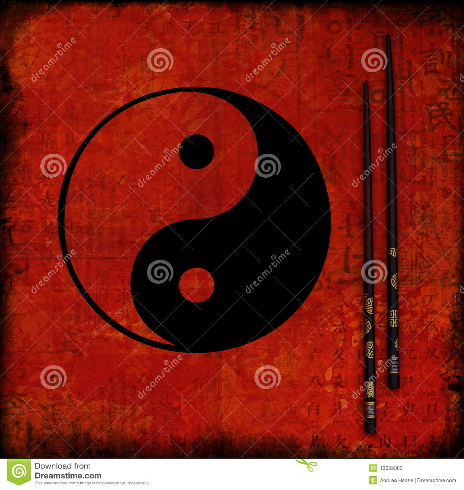 Collage Artwork Ying Yang Stock Illustration Illustration Of Symbol