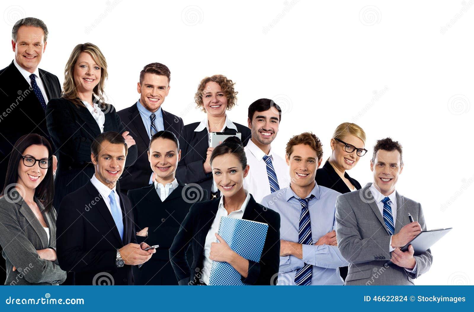 Collage av affärsexperter