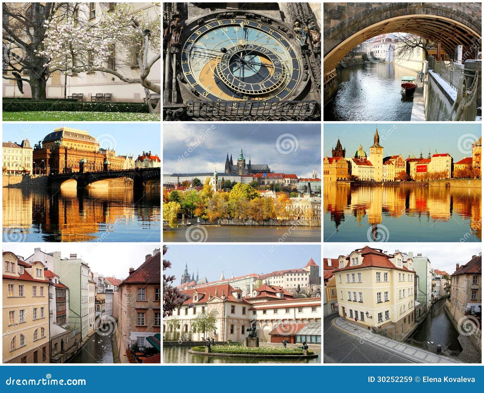 Collage härliga Prague