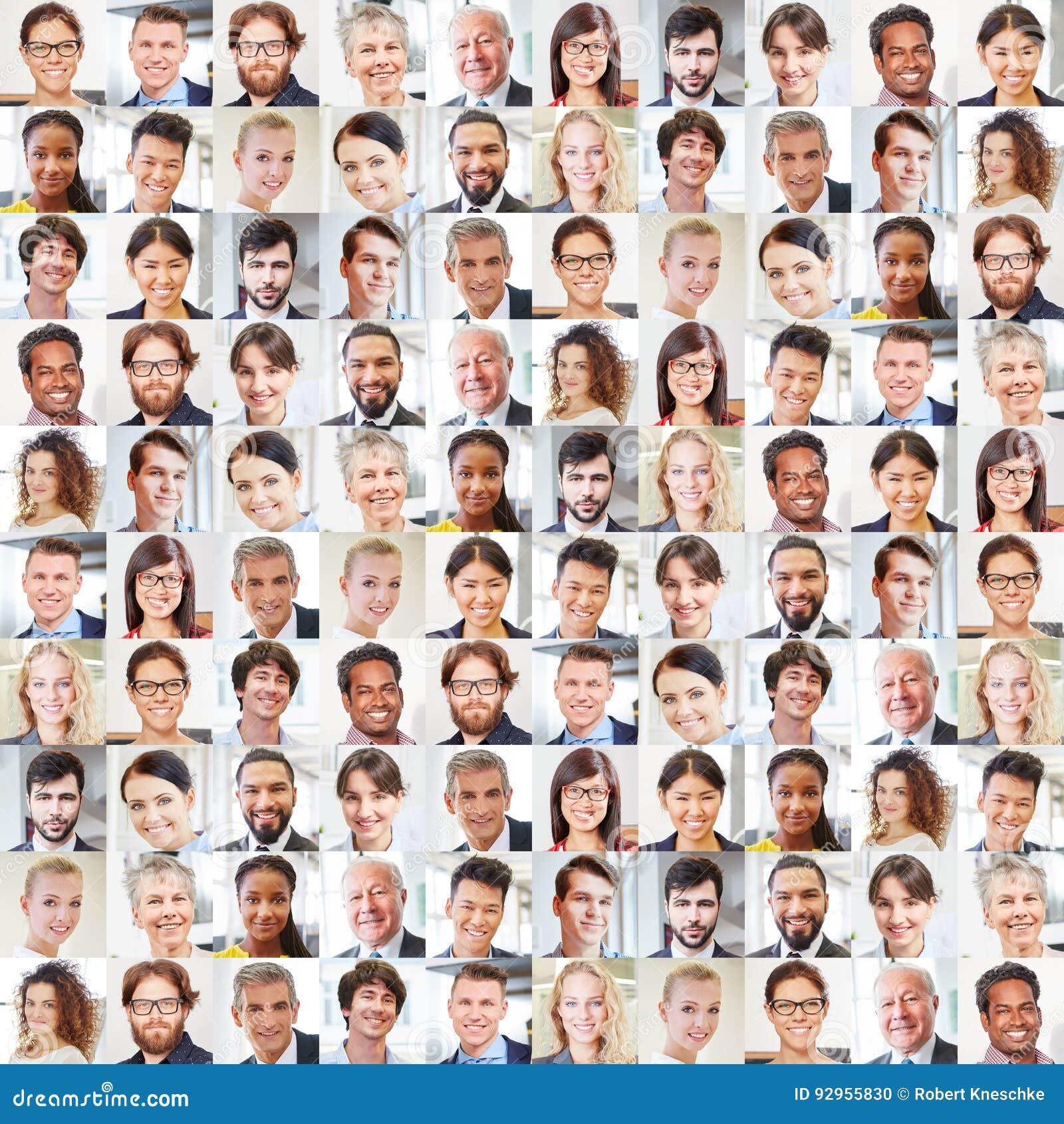 Collage av stående för affärsfolk
