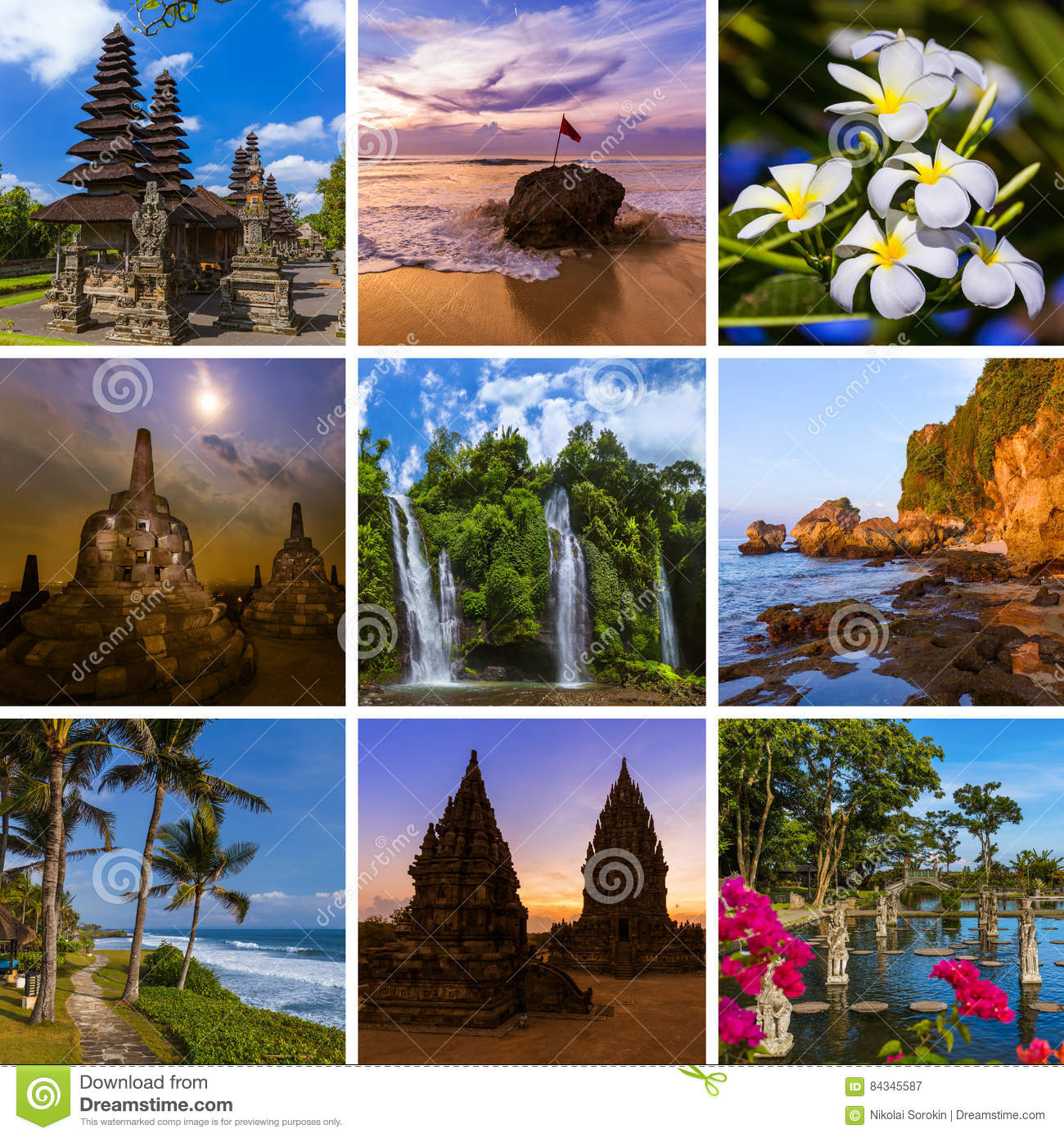 Collage Of Bali Indonesia Travel Images My Photos Stock