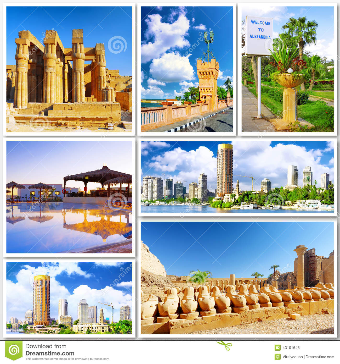 Collage Of Beautiful Egypt Stock Photo Image - Is egypt in africa