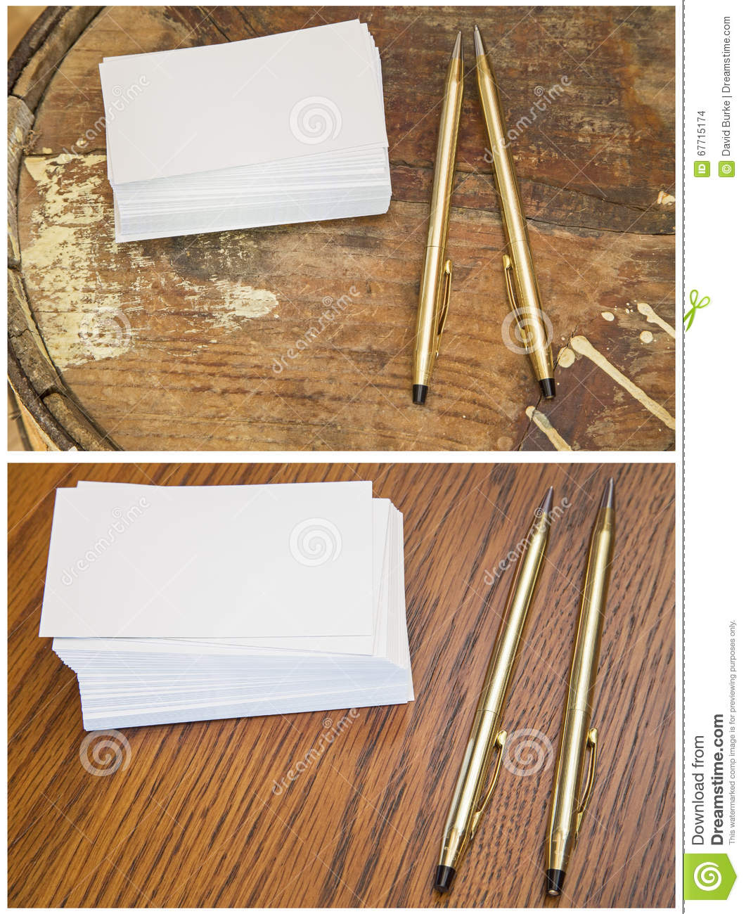 Collage blank business cards writing pen pencil stock photo image the blank stack of business card collage with writing pencil and pen on rustic and smooth finished wood pine and oak surface is white collection set group colourmoves