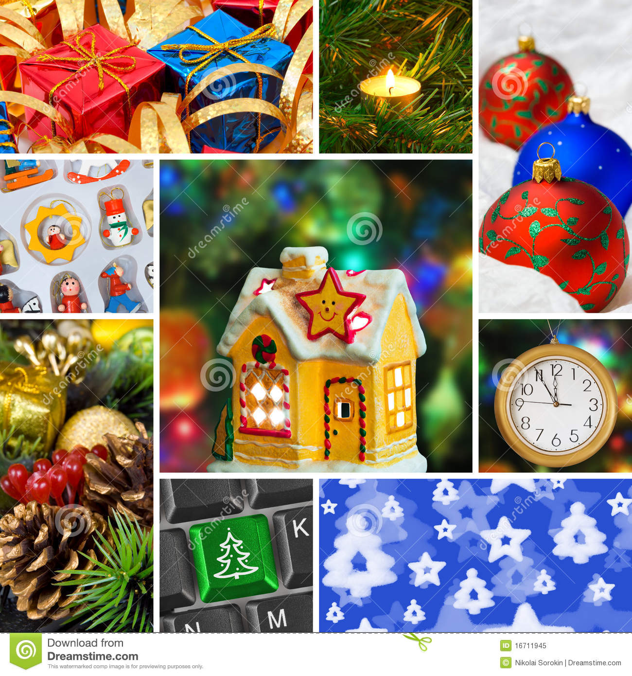 Weihnachtsbilder Download.Collage Of Christmas Images Stock Image Image Of Ornate Ball