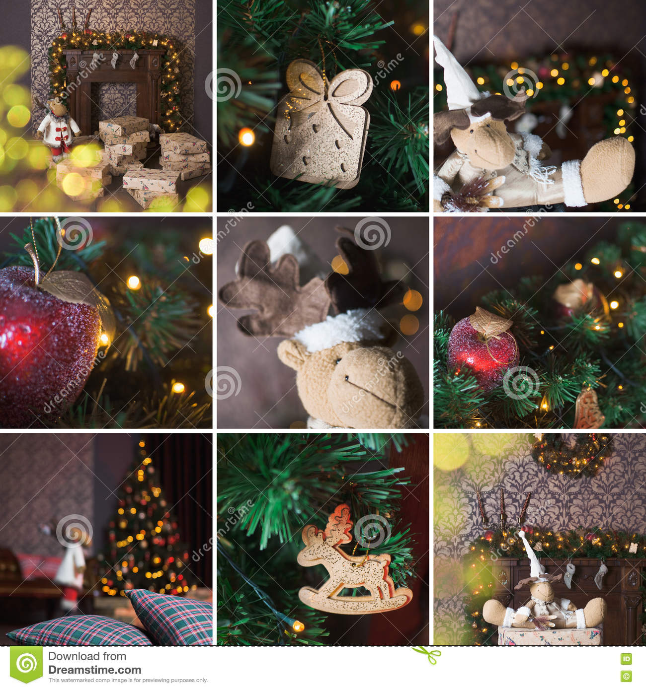 Collage of Christmas interior