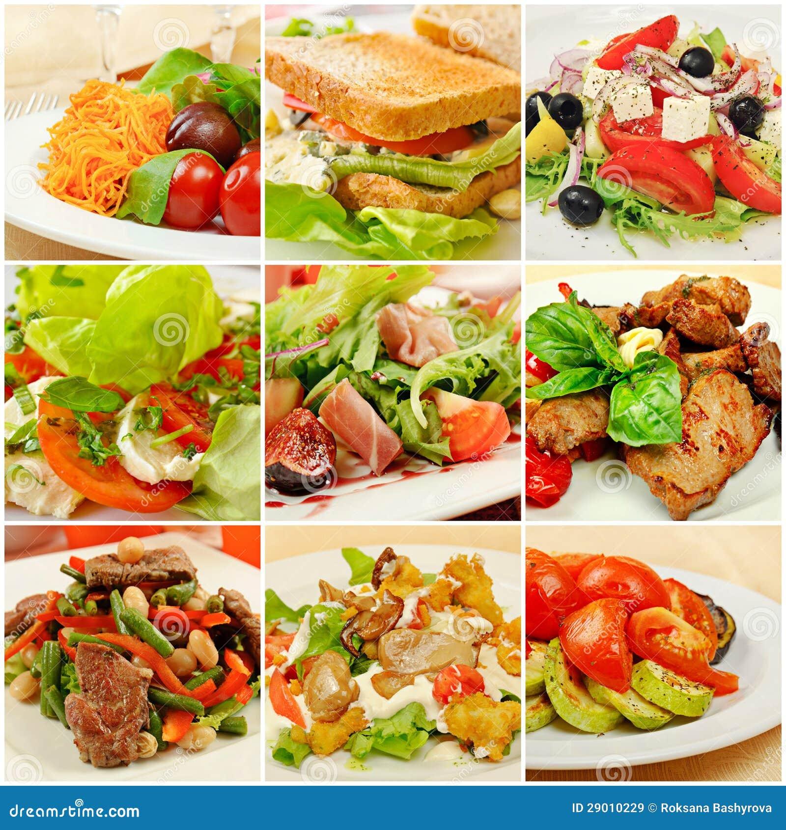 Collage con las comidas im genes de archivo libres de - Fotos de comodas ...