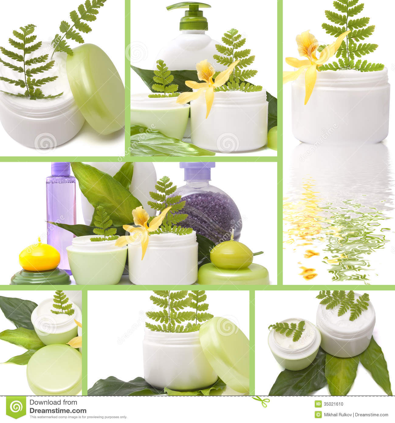 collage of cosmetic products stock photo image 35021610