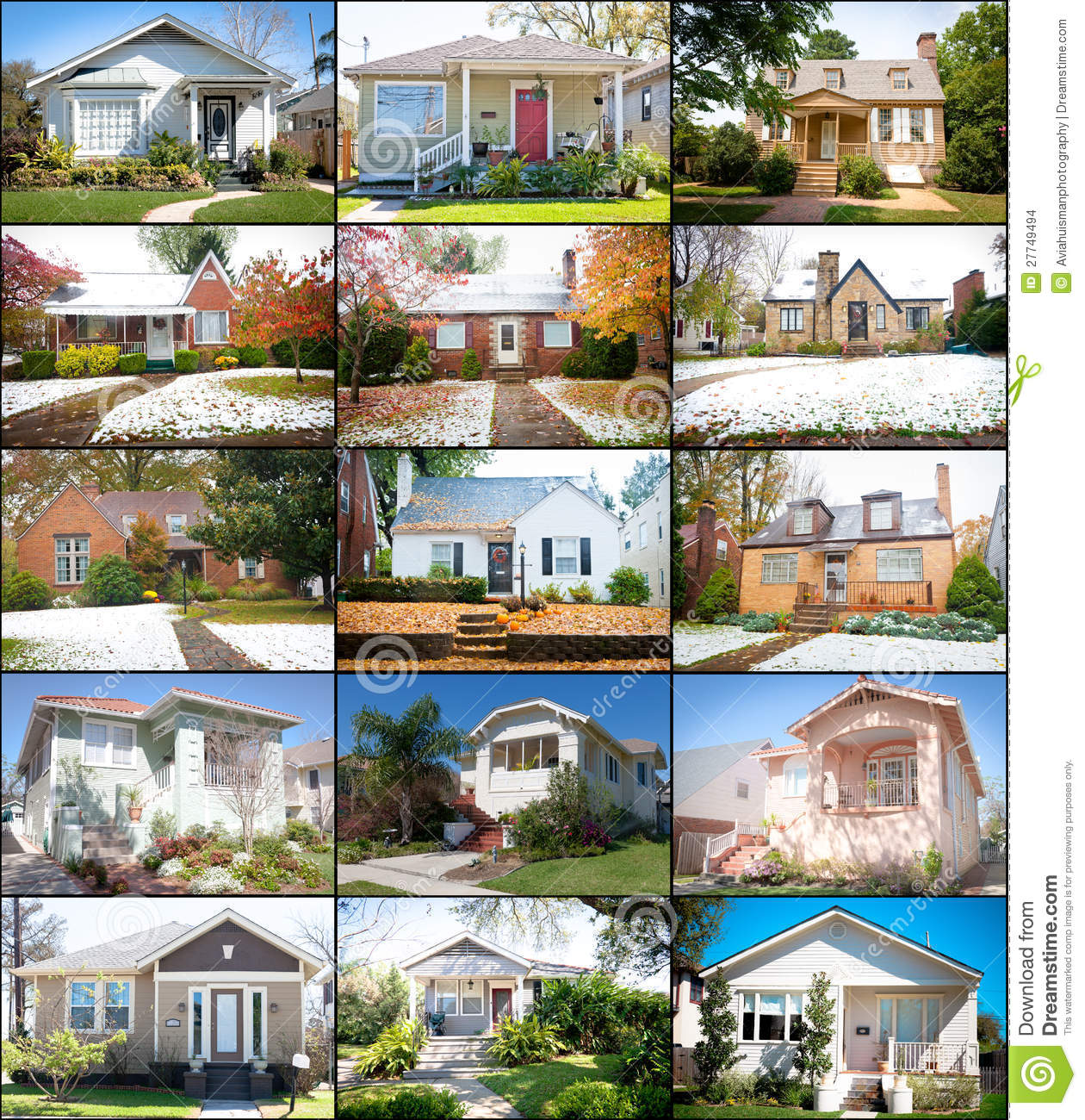 Stock Images Collage Cottage Homes Image27749494 on Modern Home Interior Design Architecture