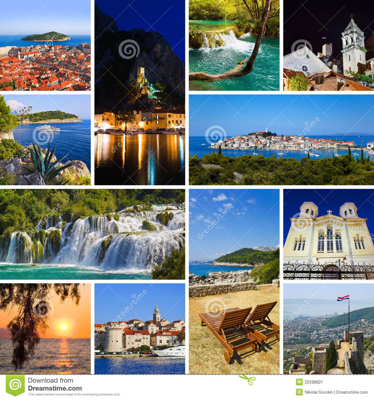 Collage Of Croatia Travel Images Stock Image Image 22598821