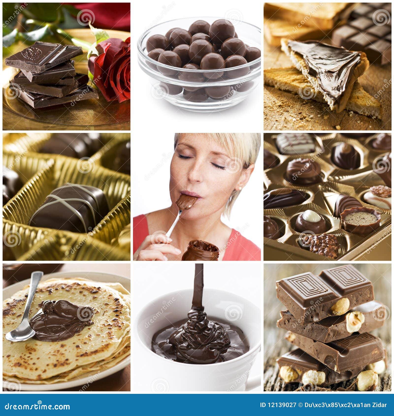 Collage de chocolat
