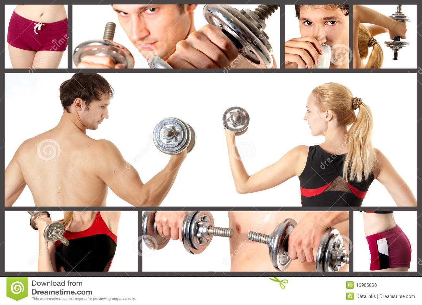 Collage de concept de sport