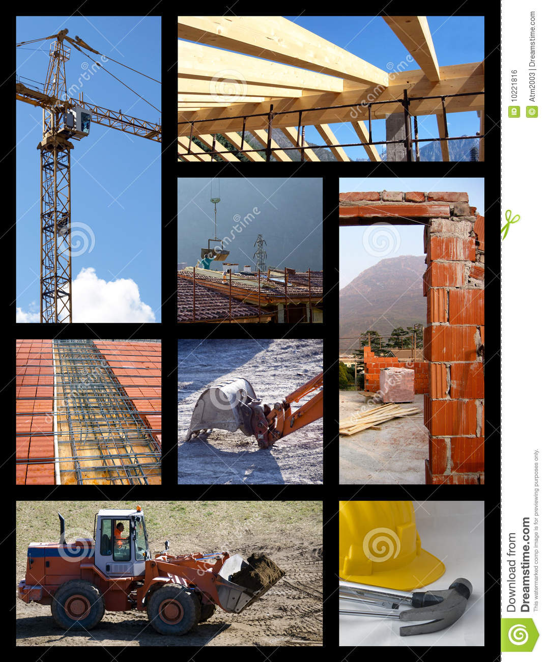Collage de construction
