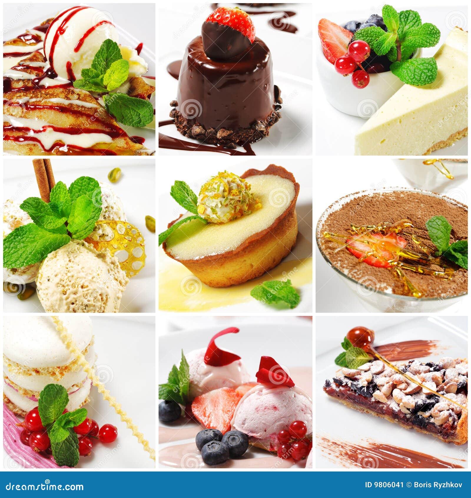 Collage de dessert