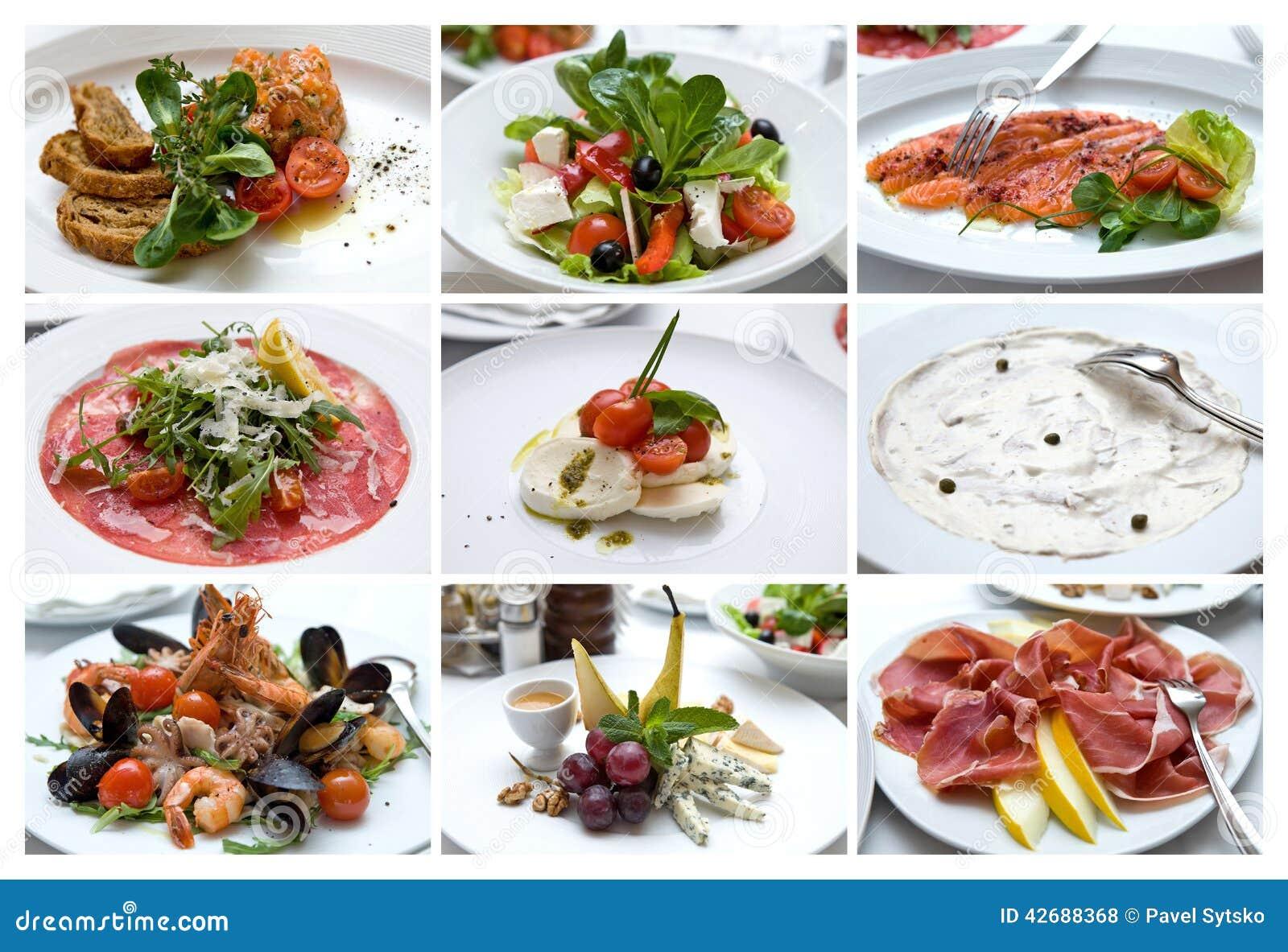 Collage de divers plats italiens cuisine italienne casse - La cuisine des italiens ...