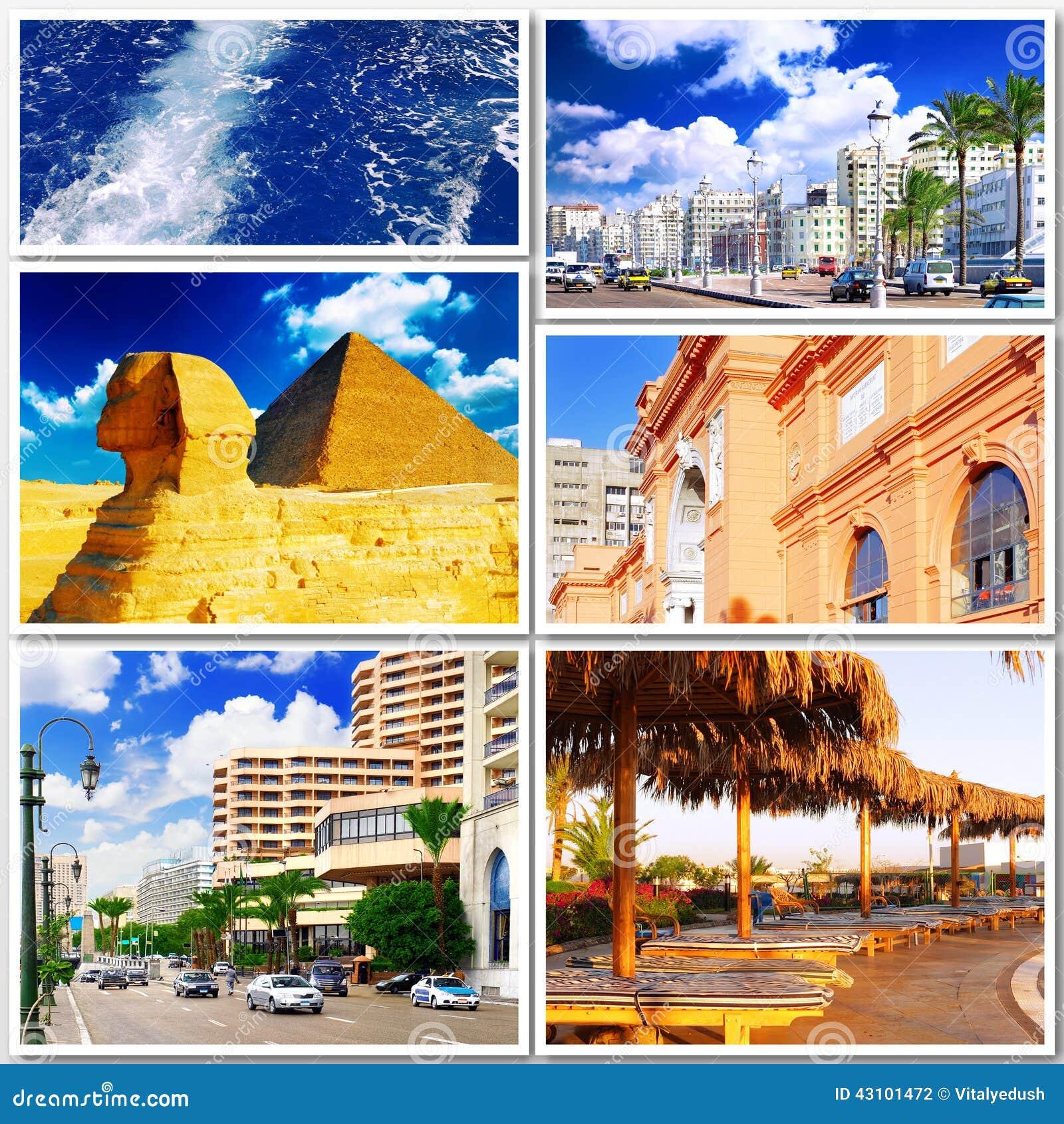 Collage de Egipto hermoso África